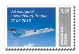 Luxembourg (Meng Post) 2016 No. 75 Aviation. First Flight Luxembourg-Prague MNH **