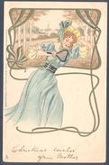 Art Nouveau - Pretty Lady Play Tennis - Raphael Tuck & Sons - Illustratori & Fotografie