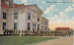 Military Waiting For Mess Call Camp Perry Ohio 1913 - Characters