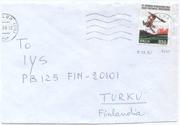 1996 PREISTORICHE L. 850 ISOLATO 9.12.96 BUSTA PER FINLANDIA RARA DESTINAZIONE E OTTIMA QUALITÀ (6987) - 6. 1946-.. Repubblica