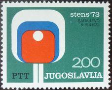 Yugoslavia 1973 Table Tennis MNH - 1945-1992 République Fédérative Populaire De Yougoslavie