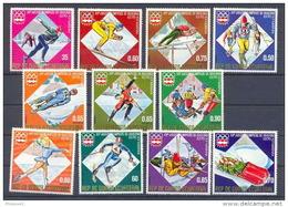 Guinée équatoriale Guinea 129 N°762/72 Jeux Olympiques Olympic Games Innsbruck 76 Serie Complète MNH **