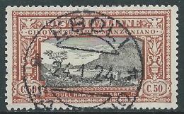 1923 REGNO USATO MANZONI 50 CENT - P52-8 - Usati