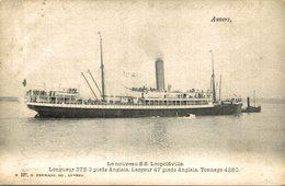 1904 Anvers - Le Nouveau SS Léopoldville   LA SOCIETE  MARITIMS DU CONGO    Bâteaux - Paquebots - Steamers