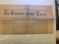 LA BOURSE POUR TOUS, 1901, JOURNAL DES PLACEMENTS BOURSIERS - Giornali