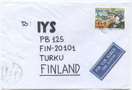 1996 CORTO MALTESE L. 850 ISOLATO 23.12.96 BUSTA PER FINLANDIA RARA DESTINAZIONE E OTTIMA QUALITÀ (6984) - 6. 1946-.. Repubblica