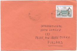 1996 ATLANTA OLIMPIADI L. 850 ISOLATO 15.11.96 BUSTA PER FINLANDIA RARA DESTINAZIONE E OTTIMA QUALITÀ (6989) - 6. 1946-.. Repubblica