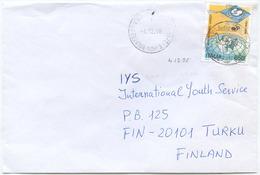 1996 UNICEF L. 850 ISOLATO 4.12.96 BUSTA PER FINLANDIA RARA DESTINAZIONE E OTTIMA QUALITÀ (6988) - 6. 1946-.. Repubblica