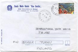 1996 NATALE L. 850 ISOLATO 16.11.96 BUSTA PER FINLANDIA RARA DESTINAZIONE E OTTIMA QUALITÀ (6990) - 6. 1946-.. Repubblica