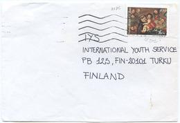 1995 NATALE L. 850 ISOLATO 16.11.96 BUSTA PER FINLANDIA RARA DESTINAZIONE E OTTIMA QUALITÀ (6991) - 6. 1946-.. Repubblica