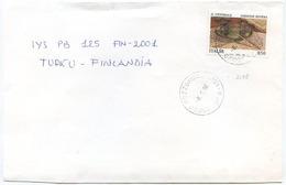1996 GARDONE VITTORIALE L. 850 ISOLATO 16.11.96 BUSTA X FINLANDIA RARA DESTINAZIONE E OTTIMA QUALITÀ (6998) - 6. 1946-.. Repubblica