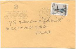 1997 EUROPA L. 900 ISOLATO 20.3.98 BUSTA PER FINLANDIA RARA DESTINAZIONE E OTTIMA QUALITÀ (6999) - 6. 1946-.. Repubblica