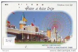 Télécarte Japon - PARC D´ATTRACTION (24) AMUSEMENT PARK - Pretpark -  Japan Phonecard - VERGNÜGUNGSPARK  390-8788 - Spiele