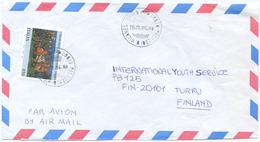 1996 TORINO L. 850 ISOLATO 18.11.96 BUSTA PER FINLANDIA RARA DESTINAZIONE E OTTIMA QUALITÀ (6996) - 6. 1946-.. Repubblica