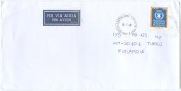 1998 ALIMENTAZIONE  L. 900 ISOLATO 16.7.98 BUSTA X FINLANDIA RARA DESTINAZIONE E OTTIMA QUALITÀ (7008) - 6. 1946-.. Repubblica