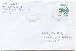 1996 ALIMENTAIONE L. 850 ISOLATO 15.11.96 BUSTA PER FINLANDIA RARA DESTINAZIONE E OTTIMA QUALITÀ (6995) - 6. 1946-.. Repubblica