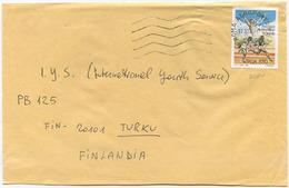 1996 GIOCHI MILITARI L. 850 ISOLATO 17.10.96 BUSTA PER FINLANDIA RARA DESTINAZIONE E OTTIMA QUALITÀ (6993) - 6. 1946-.. Repubblica