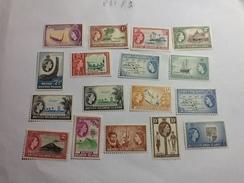 83287) Isole Salomone1956 Serie Corrente -n. 80-94 Nuovi** - Isole Salomone (1978-...)