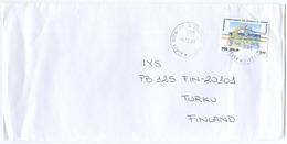 1999 SPORT CANOA  L. 900 ISOLATO 9.12.99 BUSTA X FINLANDIA RARA DESTINAZIONE E OTTIMA QUALITÀ (7012) - 6. 1946-.. Repubblica
