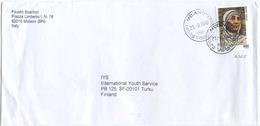 1998 MADRE TERESA   L. 900 ISOLATO 13.11.98 BUSTA X FINLANDIA RARA DESTINAZIONE E OTTIMA QUALITÀ (7009) - 6. 1946-.. Repubblica