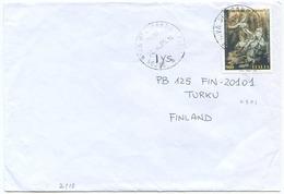 1998 BERNINI   L. 900 ISOLATO 24.4.98 BUSTA X FINLANDIA RARA DESTINAZIONE E OTTIMA QUALITÀ (7007) - 6. 1946-.. Repubblica