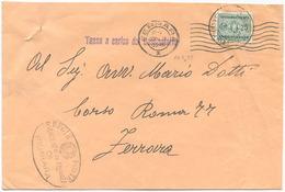 1935 SEGNATASSE C. 25 ISOLATO 10.5.35 TARIFFA TASSA A CARICO PER DISTRETTO OTTIMA QUALITÀ (7028) - 1900-44 Vittorio Emanuele III