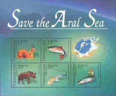 Uzbekistan 1996 Mih. 115/19 (Bl.12) Save The Aral Sea. Fauna (joint Issue) MNH ** - Usbekistan