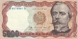 PERU 1985 5000 SOLES DE ORO UNC - Perú