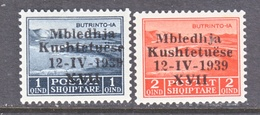 ITALIAN  OCCUPATION  ALBANIA   299-300  * - 9. WW II Occupation (Italian)