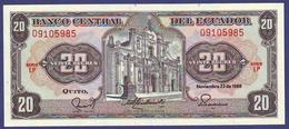 Ecuador 1988 20 SUCRES UNC - Ecuador