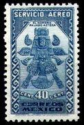 """Mexico Sc C70 40c Blue """"Aztec Birdman"""" Wmk. Correos Mexico - México"""