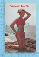 Florida USA -  Suntan, Pin Ups Used In 1973 + Us Stamp -  2 Scans - Pin-Ups
