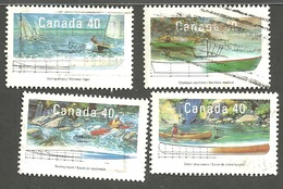 Sc. # 1317-20 Small Craft #3, Pleasure Craft Set Used 1991 K1181 - 1952-.... Règne D'Elizabeth II