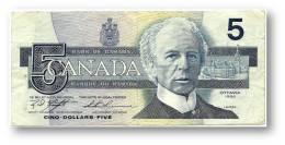 CANADA - 5 DOLLARS - ( 1986 ) - Pick 95.d - Sign. Knight-Thiessen - Serie ANN - 2 Scans - Canada