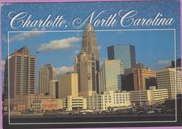 Usa °° Caroline North - Charlotte . Des Buildings Et Des Parks - écrite  **  LUXE Coin H G - Etats-Unis