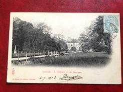 54 LUNEVILLE Le Chateau Vu Des Bosquets + Ambulant AVRICOURT à PARIS - Luneville