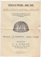 Capacetes De Protecção - Marca ''Vigôr'' * Fabricante ''A Vigorosa'' * Espinho * Portugal * Falta Algum Papel - Publicidad