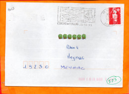 CANTAL, Condat En Feniers, Flamme SCOTEM N° 9463, Vacances Vertes Entre Mont Dore Et Puy Mary - Marcophilie (Lettres)