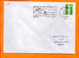 CANTAL, Murat , Flamme SCOTEM N° 12281, Au Couer Des Monts Du Cantal, Entre Plomb Et Puy Mary - Oblitérations Mécaniques (flammes)