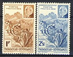 Madagascar 1941 Serie N. 229-230 MNH Cat. € 2.30 - Madagascar (1889-1960)