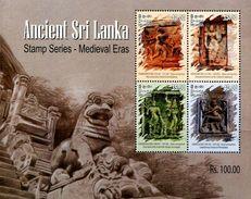 SA0310 Sri Lanka 2015 Relics Buddhist Sculpture S/S MNH - Sri Lanka (Ceylon) (1948-...)