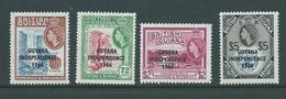 Guyana 1966 - 1968 Overprints Sideways Watermark 4 Values To $5 MNH - Guiana (1966-...)