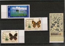 NOUVELLE CALÉDONIE  P.A. Année 1989/90 N° Y/T :263/266** Bord De Feuille - Poste Aérienne