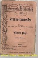 Kriminal-Humoresken: Skizzen Und Typen Aus Den Wiener Gerichtssälen;2. Bändchen,  Reclam UB Nr. 1980 - Bücher, Zeitschriften, Comics
