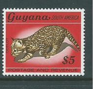 Guyana 1968 Fauna Definitives $5 Ocelot Cat MNH - Guyana (1966-...)