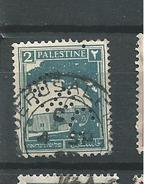 PER145 - PALESTINA - PERFIN N. 63 -2 M. - CATALOGO YVERT - Palestina