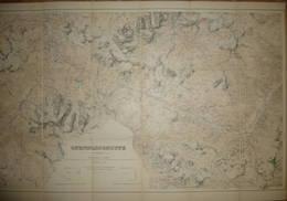 Ofenpassgruppe - Eidgenössisches Topographisches Bureau In Bern 1899 - Massstab 1:50'000 - 55cm X 82cm Auf Leinwand Gezo - Topographische Karten