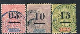 Madagascar 1902 Serie N. 48-50 Usato Cat. € 34.50 - Madagascar (1889-1960)
