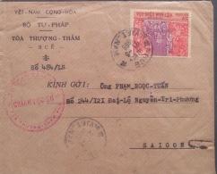 South Vietnam Viet Nam Cover 1969 From Judicial & Handicraft Stamp - Vietnam