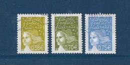 France  Timbre De 2003 N°3570 A 3572   Timbres Oblitérés - 1997-04 Marianne Du 14 Juillet
